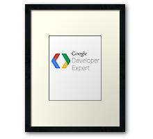 Google Developer Expert Framed Print