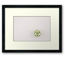 Light Green Marbled D20 Framed Print