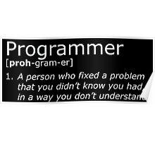 Programmer definition white Poster
