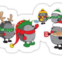 Hedgehog's Christmas magic Sticker