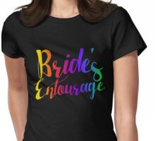 Bride entourage bachelorette party  Womens Fitted T-Shirt