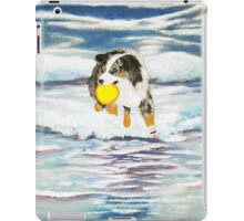 Australian Shepherd Frisbee Dog in Surf iPad Case/Skin