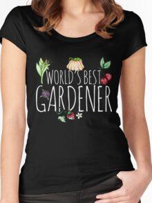 World's best gardener veggies and fruits Women's Fitted Scoop T-Shirt