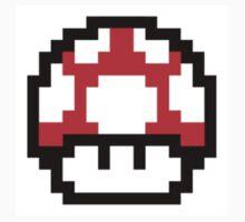 8-bit Mario Mushroom! One Piece - Short Sleeve