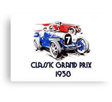 Retro vintage classic Grand Prix 1938 Canvas Print
