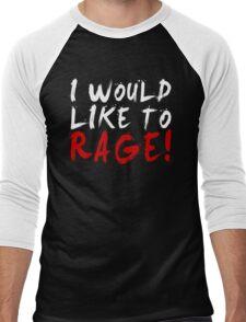 I WOULD LIKE TO RAGE!!! - Grog Strongjaw (White) Men's Baseball ¾ T-Shirt