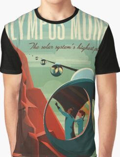 Mars Travel Poster Graphic T-Shirt