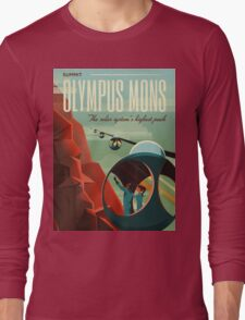 Mars Travel Poster Long Sleeve T-Shirt