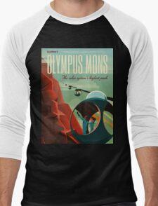Mars Travel Poster Men's Baseball ¾ T-Shirt