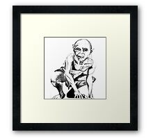 Gollum pencil sketch Framed Print