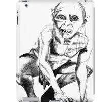 Gollum pencil sketch iPad Case/Skin