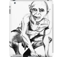 Gollum pencil sketch iPad Case/Skin