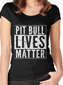 Pit Bull Lives Matter Women's Fitted Scoop T-Shirt