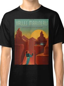 Mars Travel Poster Classic T-Shirt