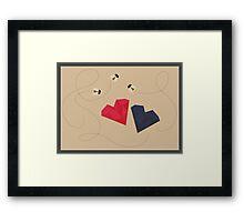 Bee my Valentine Framed Print