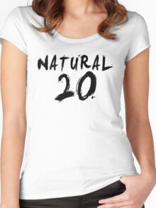 Natural 20 (Black) Women's Fitted Scoop T-Shirt