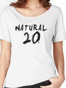 Natural 20 (Black) Women's Relaxed Fit T-Shirt
