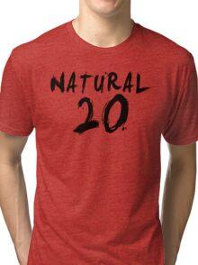 Natural 20 (Black) Tri-blend T-Shirt
