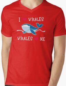 love whales Mens V-Neck T-Shirt