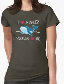 love whales Womens Fitted T-Shirt