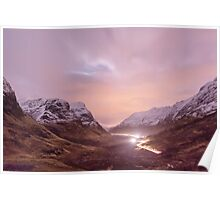 A night shot of Glencoe, Scotland. Poster