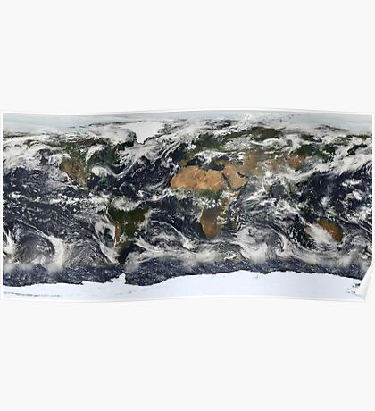 Earth from space Poster