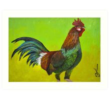 Rooster Painting Art Print