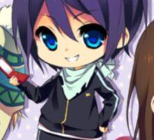 Yato, Yukine & Hiyori Chibis Sticker