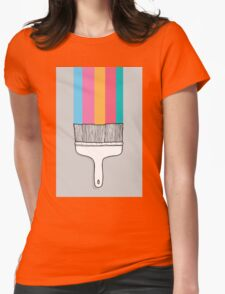 Colorful cartoon fantasy paintbrush  Womens Fitted T-Shirt
