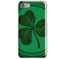 Clover & Braid - dark green iPhone Case/Skin