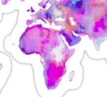Pink Map Sticker