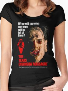 THE TEXAS CHAINSAW MASSACRE 1974 Women's Fitted Scoop T-Shirt