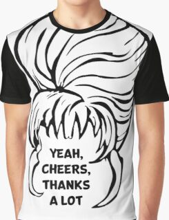 Yeah, cheers, thanks a lot - Black Graphic T-Shirt