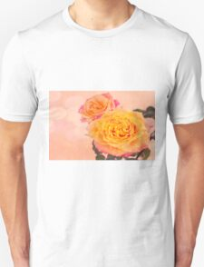 Bursting Of Beauty Orange Roses Unisex T-Shirt