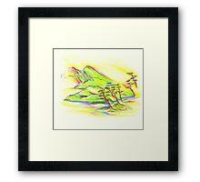 Rainbow Landscape Framed Print