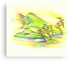 Rainbow Landscape Canvas Print