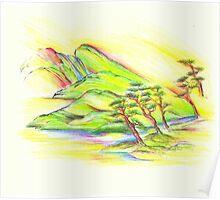 Rainbow Landscape Poster