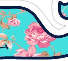 Floral Vineyard Vines Whale Sticker