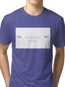 team cap (with wings) Tri-blend T-Shirt