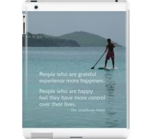 People Who Are Grateful iPad Case/Skin