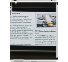 Modern Tablet PC displaying news with hand touching the display iPad Case/Skin