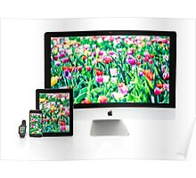 Multiscreen - Apple Watch, iPhone, iPad and iMac screens  Poster