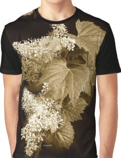 Monochrome Flower Graphic T-Shirt