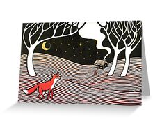 Stargazing - Fox in the Night Greeting Card