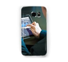 Closeup of a businessman accessing his digital tablet PC Samsung Galaxy Case/Skin