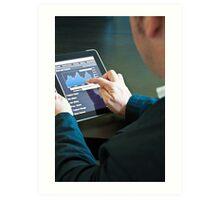 Closeup of a businessman accessing his digital tablet PC Art Print