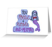 Leslie Knope Land Mermaid Quote Greeting Card