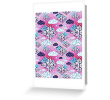Seamless graphic pattern geometric clouds Greeting Card