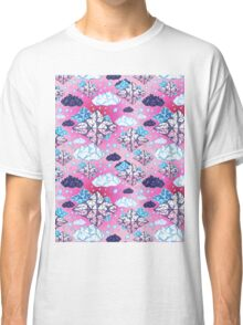 Seamless graphic pattern geometric clouds Classic T-Shirt