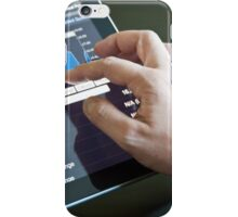 Businessman with digital tablet PC iPhone Case/Skin